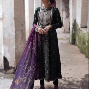New Stylish Embroidered Green Suit with Dupatta