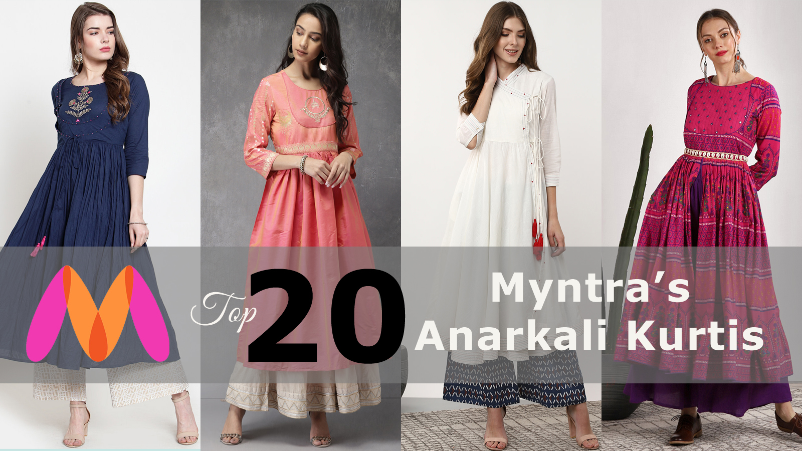 Top 20 Myntra's Anarkali Kurtis to Dazzle Up