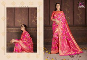 Banarasi Art Silk Pink Saree