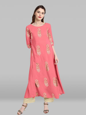 Light Pink Poly Crepe Kurta